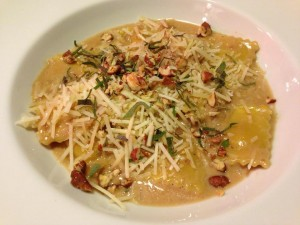 Butternut Squash Ravioli with Calvados Cream Sauce (Photo Credit: Adroit Ideals)