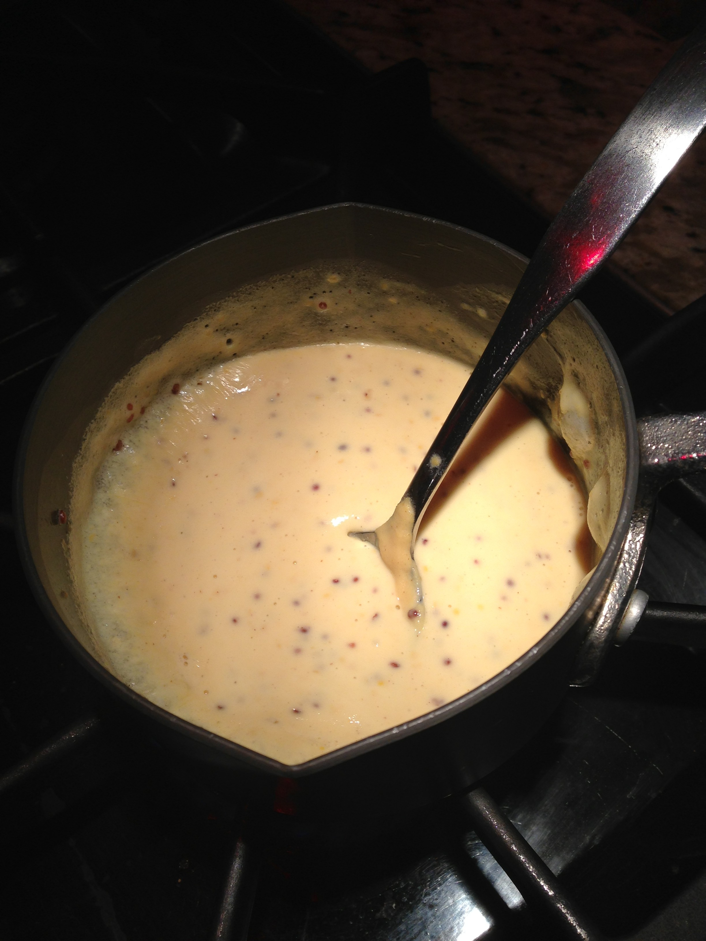 Mustard and cream come together for an easy decadent sauce (Photo Credit: Adroit Ideals)