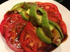 Ripe tomatoes and avocado draped with tarragon balsamic dressing (Photo Credit: Adroit Ideals)