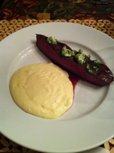 Buffalo Steak with Herb Butter & Cheesy Mashed Potatoes (Photo Credit: Adroit Ideals)