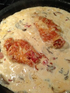 Chicken Breasts Sauteing in Napoleon Sauce (Photo Credit: Adroit Ideals)