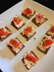Smoked Salmon Nibbles for a Party!  (Photo Credit: Adroit Ideals)