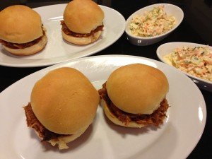 BBQ Pork Sliders with Creamy Coleslaw (Photo Credit: Adroit Ideals)