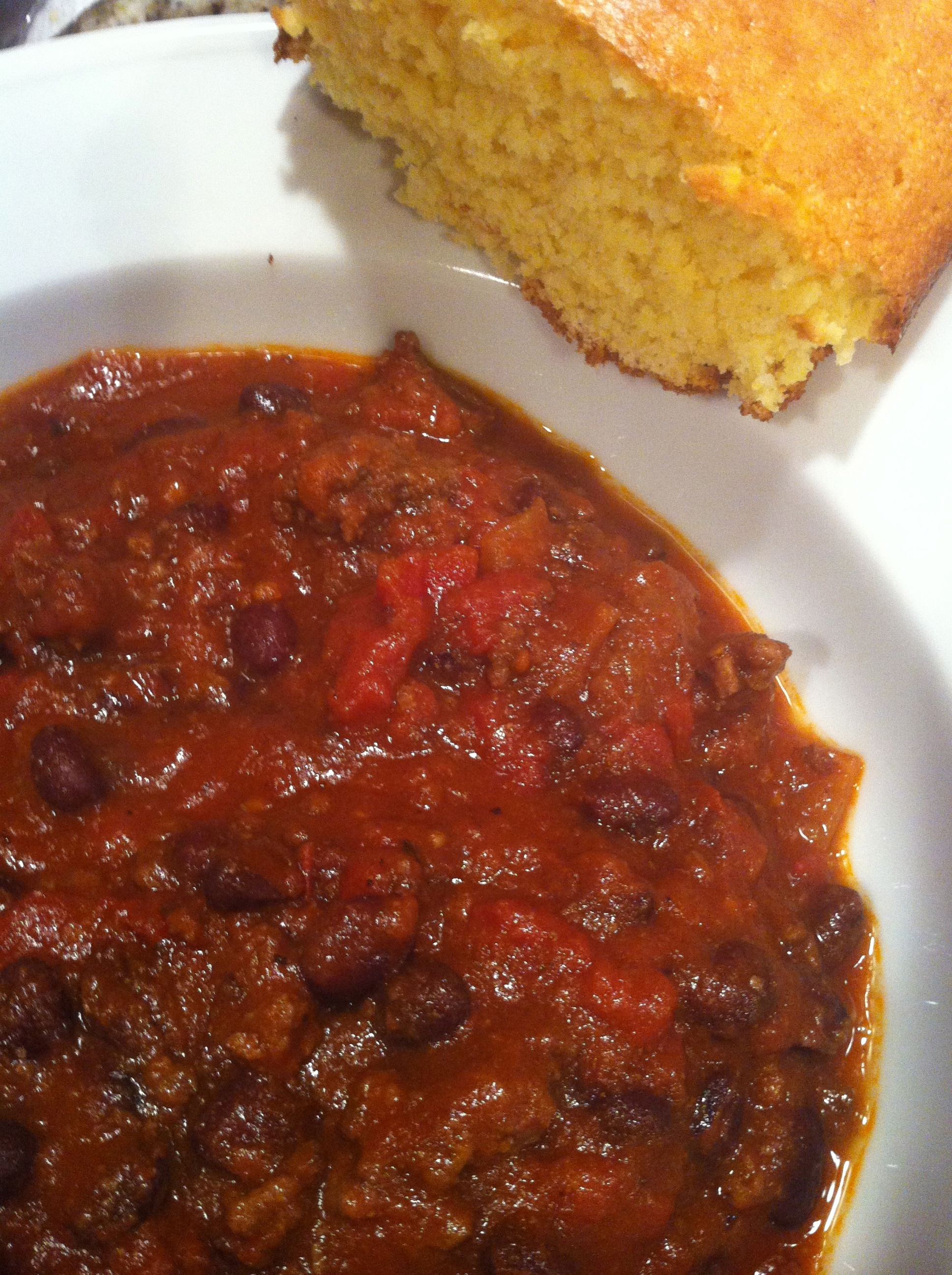 Black Bean Chili and Cornbread (Photo Credit: Adroit Ideals)