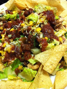 Chicken Taco Salad with Chipotle Salsa and Roasted Corn (Photo Credit: Adroit Ideals)