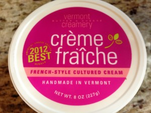 Creme Fraiche available in your grocer's dairy case (Photo Credit: Adroit Ideals)