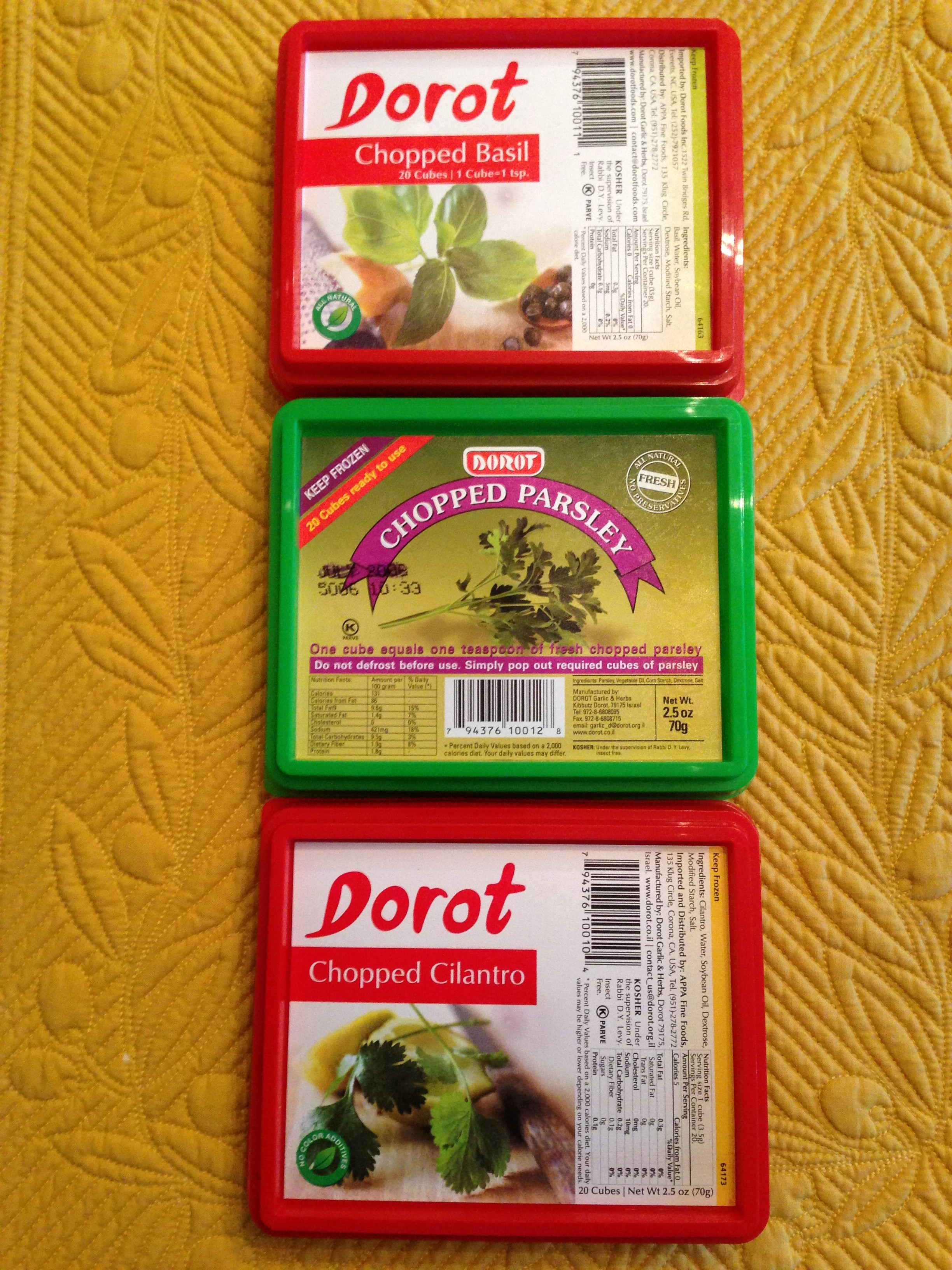 Dorot Frozen Herb Cubes (Photo Credit: Adroit Ideals)