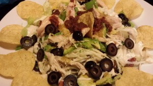 Festive Chicken Taco Salad with Chipotle Salsa and Chipotle Cream Dressing (Photo Credit: Adroit Ideals)