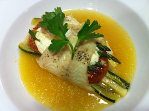 Baked Lemon Sole Stuffed with Vegetables (Photo Credit: Adroit Ideals)