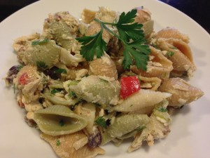Lemony Pesto Mediterranean-Style Tuna Pasta (Photo Credit: Adroit Ideals)