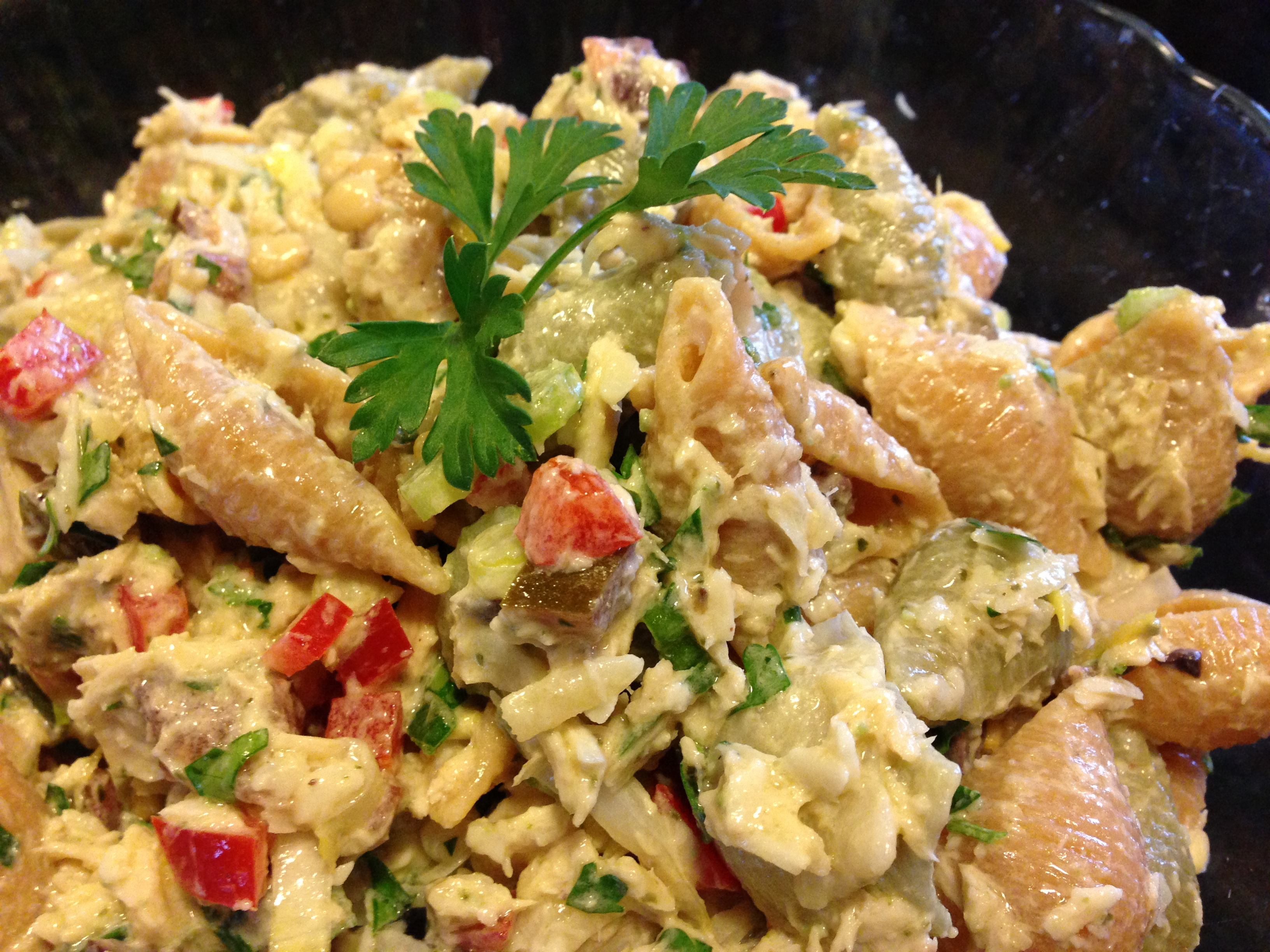 Mediterranean-Style Tuna Pasta Salad (Photo Credit: Adroit Ideals)
