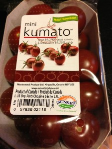 Mini Kumatos the size of large cherry tomatoes are now available.  (Photo Credit: Adroit Ideals)