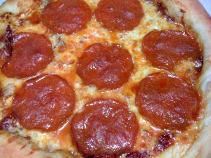 Pepperoni Pizza with Roasted Tomato Sauce as the base (Photo Credit: Adroit Ideals)