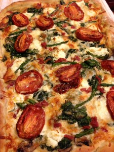 Roasted Tomato and Asparagus Pizza Fresh From the Oven (Photo Credit: Adroit Ideals)