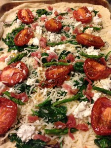 Roasted Tomato and Asparagus Pizza! (Photo Credit: Adroit Ideals)