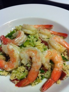 Minty Shrimp Couscous Salad (Photo Credit: Adroit Ideals)