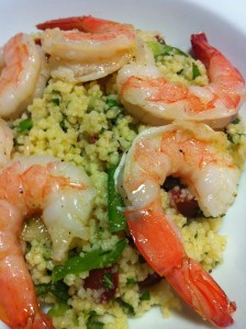 Shrimp and Couscous Salad with Mint (Photo Credit: Adroit Ideals)