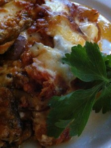 A Slice of Vegetable Lasagna (Photo Credit: Adroit Ideals)