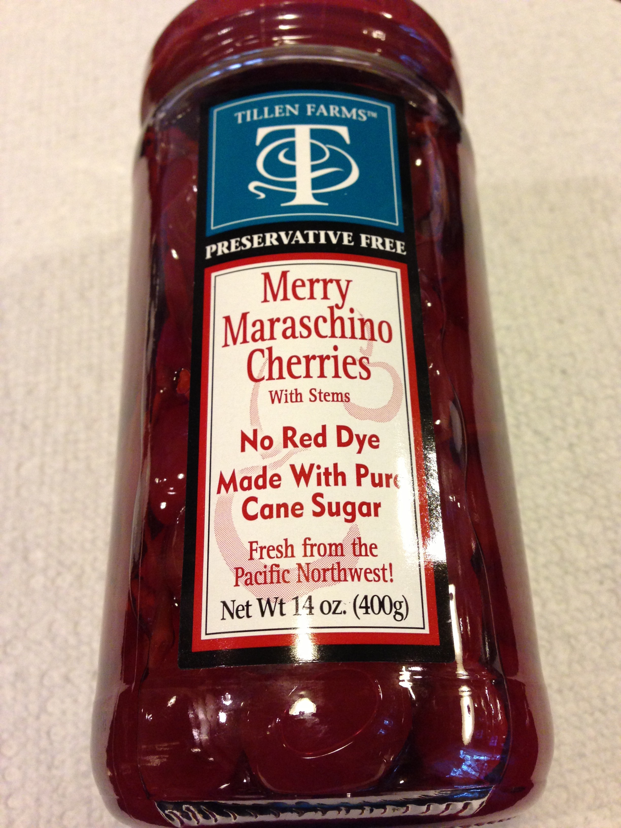 Tillen Farms Maraschino Cherries (Photo Credit: Adroit Ideals)
