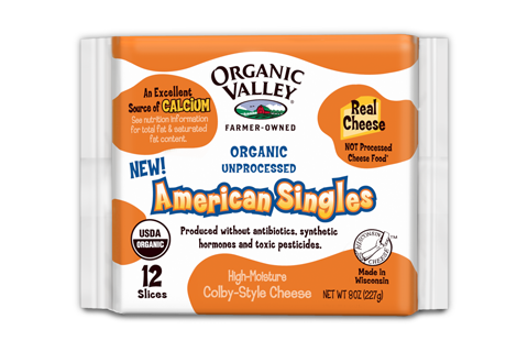 Organic Valley's American Cheese slices (Photo Credit: Organic Valley Coop)