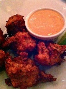 The crispy Conch Fritters at Patsy's Restaurant (Photo Credit: Adroit Ideals)