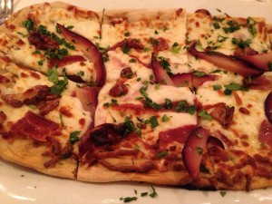 Duck Confit and Pear Pizza at Patsy's Restaurant (Photo Credit: Adroit Ideals)