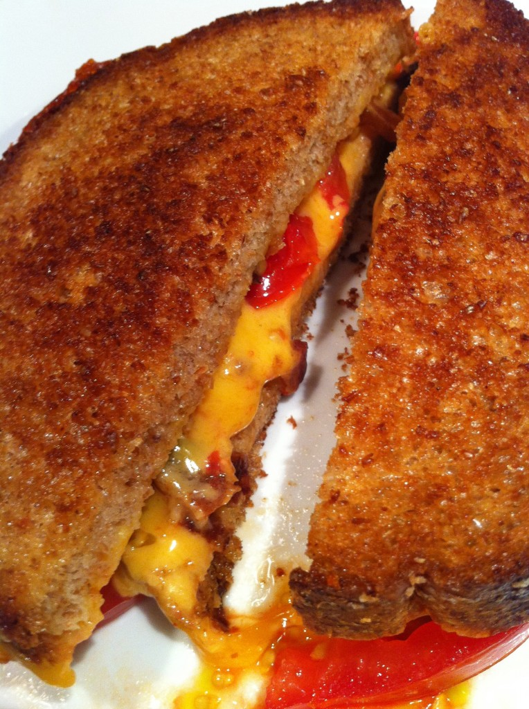 Grilled Cheddar and Heirloom Tomato Sandwich