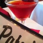 The organic house-made strawberry vodka martini at Patsy's Restaurant (Photo Credit: Adroit Ideals)