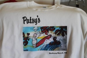New souvenir shirts with the Patsy's mural!  (Photo Credit: Patsy's Restaurant)