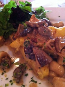 Creamy Polenta smothered with a Wild Mushroom Medley at Patsy's Restaurant (Photo Credit: Adroit Ideals)