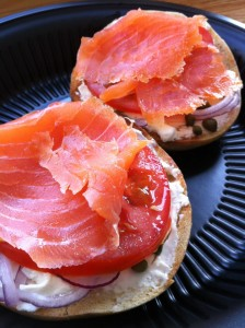 The Smoked Salmon Bagel at Coastal Living Market