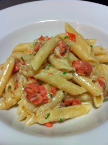 Elegant Smoked Salmon with Penne (Photo Credit: Adroit Ideals)