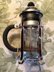 A Coffee Press can be used for brewing tea leaves or frothing milk! (Photo Credit: Adroit Ideals)