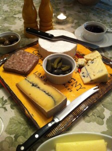 Cheeses, pate and cornichons (Photo Credit: Adroit Ideals)