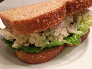The Food Lover's Favorite Chicken Salad Sandwich!  (Photo Credit: Adroit Ideals)