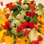 Ripe mango and avocado salad is a favorite! (Photo Credit: Adroit Ideals)