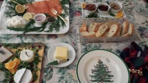 New Year's Eve Midnight Buffet with cheeses and smoked salmon (Photo Credit: Adroit Ideals)