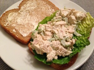 Assemble a from-scratch Chicken Salad Sandwich (Photo Credit: Adroit Ideals)
