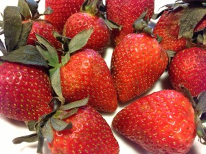 Organic Strawberries make luscious homemade jam!  (Photo Credit: Adroit Ideals)