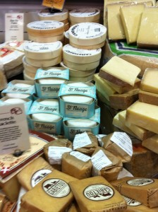 The cheese case at Whole Foods Market in Springfield, VA (Photo Credit: Adroit Ideals)