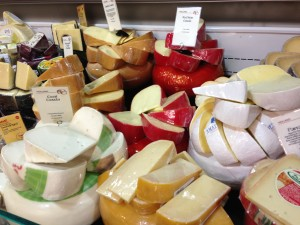 A selection of Gouda cheeses at Whole Foods Market (Photo Credit: Adroit Ideals)