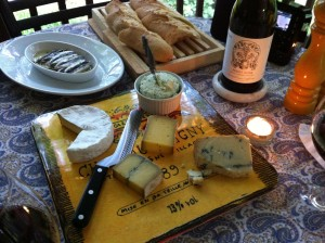 Wine, cheese, and baguette - my favorite dinner! (Photo Credit: Adroit Ideals)