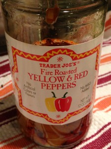 Trader Joe's carries some tasty roasted red peppers in a jar.  (Photo Credit: Adroit Ideals)