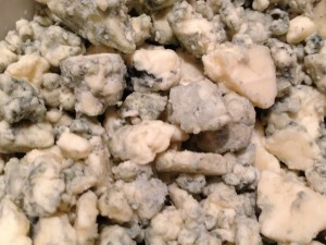 Bleu cheese chunks -- specifically, Gorgonzola -- my favorite!  (Photo Credit: Adroit Ideals)