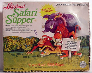 Libbyland's Safari Supper TV Dinner (Photo Credit: theimaginaryworld.com)