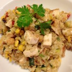 Healthy Quinoa Salad with Grilled Chicken and Roasted Corn (Photo Credit: Adroit Ideals)