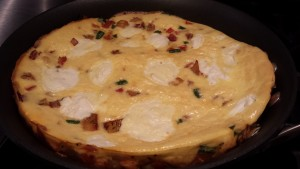 Just baked frittata (Photo Credit: Adroit Ideals)