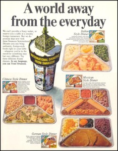 International TV dinners by Swanson (Photo Credit: Photobucket.com)