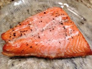 Baked Sockeye salmon fillet (Photo Credit: Adroit Ideals)