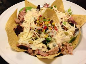 Cowboy Smokehouse Salad with Pulled Pork (Photo Credit: Adroit Ideals)